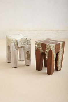 Absolutely gorgeous!!!! What an idea!!! Anatolia Stool #anthropologie