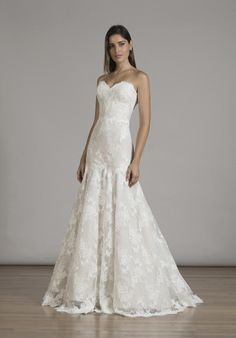 Liancarlo strapless mermaid styled gown with sweetheart neckline, dropped waist, and embellished lace I Style: 6831 I https://www.theknot.com/fashion/6831-liancarlo-wedding-dress?utm_source=pinterest.com&utm_medium=social&utm_content=june2016&utm_campaign=beauty-fashion&utm_simplereach=?sr_share=pinterest