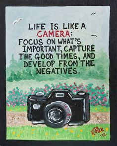 7   Camera  Quote by KOPLERART on Etsy, $37.50