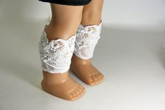 American Girl Doll Clothes Lace Boot Toppers by sewurbandesigns