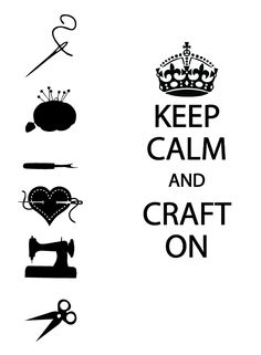 Here is my first Friday Freebie! Keep Calm and Craft On. I included the traditional Keep Calm crown and some other craft goodies so yo...