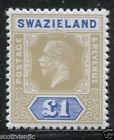 SWAZILAND 1912 KGV Unadopted Essay High Quality £1 MNH Modern Fantasy OG FAKE - http://stamps.goshoppins.com/commonwealth-british-colonial-stamps/swaziland-1912-kgv-unadopted-essay-high-quality-1-mnh-modern-fantasy-og-fake/
