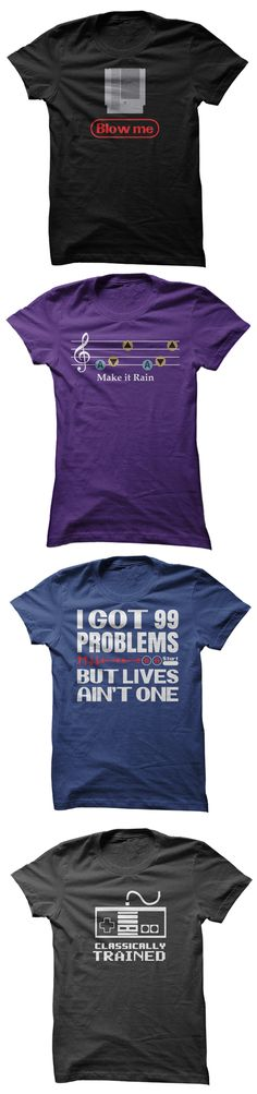 Are You Old School? Lot's of Awesome Gaming T-Shirts to Choose From!