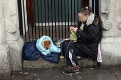 Homeless People And Their Dogs Show Their Love In Heartwarming Photos Homeless Dogs, Homeless People, Sad Dog Stories, Mans Best Friend, Best Friends, True Friends, Dublin, Emotional Photos, Man And Dog