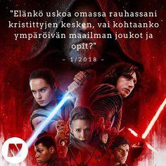 Taistelu pahaa vastaan on ikuinen teema  Star Warsissa ja meidän elämässä. Lue uusimmasta Nuotasta juttu The Last Jedi -leffasta!  #starwars #leffa #nuotta