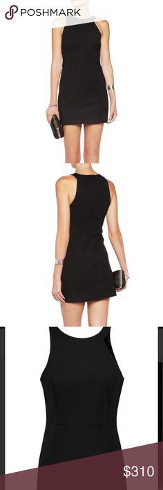 Halston black ponte knit black mini dress-NWT! Halston black ponte knit black mini dress-NWT! The classic LBD dress! Halston Heritage Dresses Mini