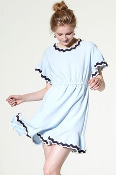 Roxanne Contrast Taping Dress Discover the latest fashion trends online at storets.com