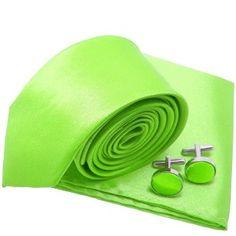 label-cravate - Cravate slim vert-fluo et accessoires