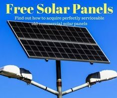 Find out how with a bit of detective work, you can bag some slightly damaged, but working solar panels for free.