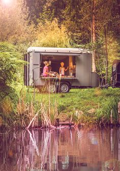 How about a camping trailer that is suitable for a tranquil camping trip but also perfect as a base for water sports on an active weekend... Water Sports, Transportation, Base, Camping, Events, House Styles, Campsite, Campers, Tent Camping