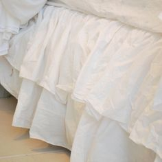 Rachel Ashwell Shabby Chic Couture Liliput Double Ruffle Bedskirt