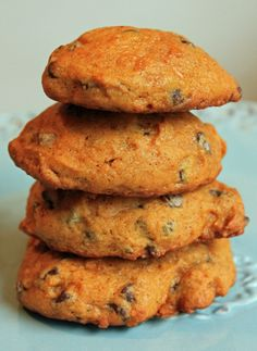 Pumpkin Chocolate Chip Cookies - JavaCupcake