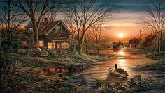 shoreline neighbors...terry redlin