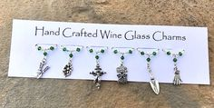Gifts for Gardeners - Stocking Fillers - Wine Glass Charms - Gifts for Her - Christmas Gifts
