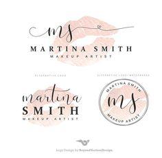 makeup logo – Hair and beauty tips, tricks and tutorials Watercolor Logo, Logo Inspiration, Lip Logo, Florist Logo, Makeup Artist Logo, Beauty Salon Logo, Luxury Logo, Branding Kit, Signature Design