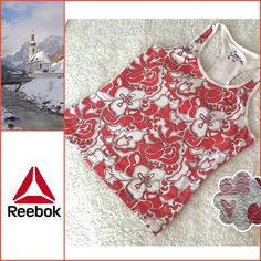 🆕❤️Rebook Top❤️ ✨❤️Perfect top for the gym,...cute red & white print❤️✨ Reebok Tops
