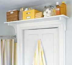 Bathroom Storage Ideas for Small Spaces – Above The Door Shelf – Click Pic for 42 DIY Bathroom Organization Ideas