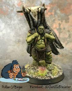 Orc standard bearer by Alan O'Bryan Atlantis Miniatures