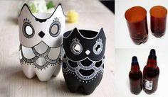 Elegantní sovičky – dekorace z obyčejných PET lahví