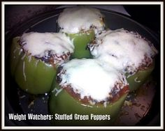 Weight Watchers Stuffed Green Peppers - Made this for dinner tonight could NOT believe how good it was!  Hubby & kids all agree - it's a keeper!