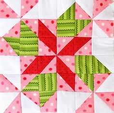 Farmer's Wife Quilt Along Block #38 - Four Winds