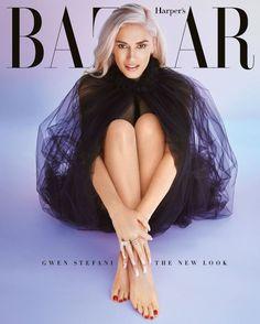 Gwen Stefani rocks a #GiorgioArmani cape on the Harper's Bazaar August subscriber cover.