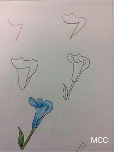 gala çiçeği nasıl çizilir
