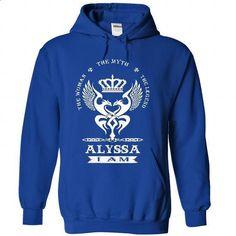 Alyssa - #black hoodie #country sweatshirt. SIMILAR ITEMS => https://www.sunfrog.com/Names/Alyssa-5459-RoyalBlue-42172081-Hoodie.html?68278