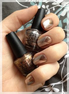 Metallic Nail art by OPI