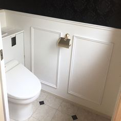 Powder Room, Bathroom Medicine Cabinet, Toilet, Diy And Crafts, Interior, Home, Flush Toilet, Indoor, Powder Rooms