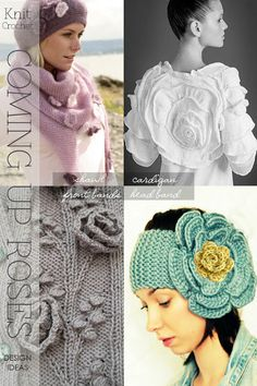 Florals in 3D | taking knit and crochet flower patterns and making them larger and bolder for spring