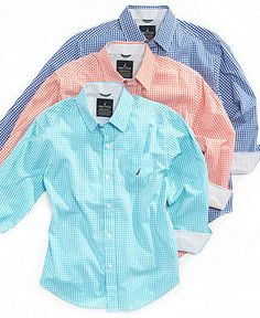 Nautica Kids Shirt, Little Boys Boys Check Shirt - Kids - Macy's