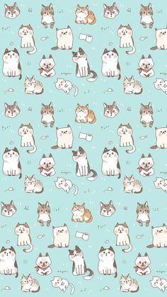 kawaii cat wallpaper - Cerca con Google