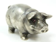 1 1/8 height    1 3/4 length  Russian silver Pig