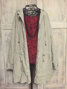 Linen Drawstring Spring Jacket by VintageNerdBoutique on Etsy