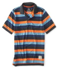 Niños & # 39;  Striped Jersey Polo -
