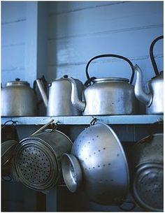Antique Tea Kettles & Colanders ♥