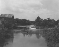 The old mill on the Stones River near Murfreesboro, Tennessee.