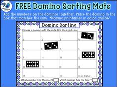 FREE Domino Sorting Mats and Printable Dominos by Whimsy Workshop Teaching