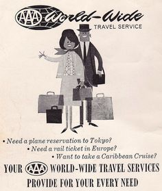 Summer travel unofficially began last weekend, and AAA Alaska has a few predictions and statistics for savvy families on the go. Vintage Advertisements, Vintage Ads, Vintage Posters, Travel Ads, Travel Brochure, Route Planner, History Photos, Caribbean Cruise, Poster Vintage