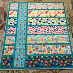Under the Sea Baby Quilt // via cationdesigns