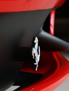 Gorgeous macro of a Ferrari.