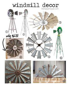 Find out where to buy Fixer Upper windmill decor just like Joanna Gaines uses in her designs! Coastal Decor, Rustic Decor, Diy Home Decor, Coastal Curtains, Coastal Entryway, Coastal Rugs, Western Decor, Coastal Style, Coastal Living