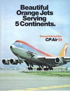 CP Air: The Airline - Great Canadian carrier. #airlines #CPAir #Vintageads