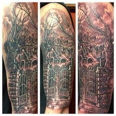 graveyard tattoo sleeve - Google Search