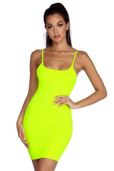 Come shop Windsor's trendy fashion tops, blouses and t-shirts for women. Green Outfits For Women, Summer Dresses For Women, Neon Party Outfits, Neon Yellow Dresses, Tight Dresses, Ladies Dress Design, Fashion Outfits, Women's Fashion, Neon Clothing