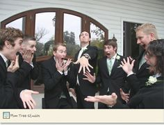 """funniest groomsmen picture ever.: """"Hey can we be like the ladies when they are…"""