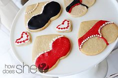 Bra/panties cookies :) Made from heart cookie cutter.