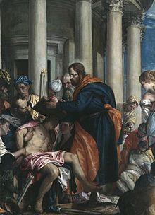 Saint Barnabas curing the sick by Paolo Veronese, Musée des Beaux-Arts de Rouen.