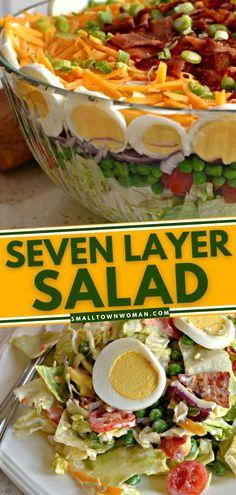 Best Salad Recipes, Salad Dressing Recipes, Healthy Recipes, Healthy Food, Salad Dressings, Healthy Salads, Diabetic Recipes, Veggie Recipes, Hard Boiled